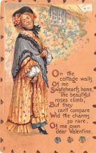 val003085 - Valentines Day Post Card Old Vintage Antique