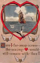 val003087 - Valentines Day Post Card Old Vintage Antique