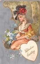 val003089 - Valentines Day Post Card Old Vintage Antique