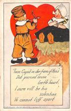 val003093 - Valentines Day Post Card Old Vintage Antique
