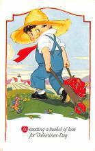 val003101 - Valentines Day Post Card Old Vintage Antique