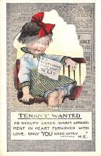 val003105 - Valentines Day Post Card Old Vintage Antique