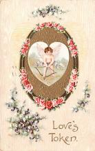 val003107 - Valentines Day Post Card Old Vintage Antique