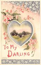 val003109 - Valentines Day Post Card Old Vintage Antique