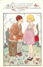 val003111 - Valentines Day Post Card Old Vintage Antique