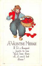 val003129 - Valentines Day Post Card Old Vintage Antique