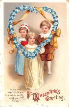 val003131 - Valentines Day Post Card Old Vintage Antique