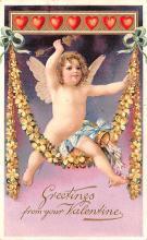 val003133 - Valentines Day Post Card Old Vintage Antique