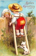 val003135 - Valentines Day Post Card Old Vintage Antique