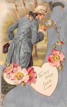 val003137 - Valentines Day Post Card Old Vintage Antique