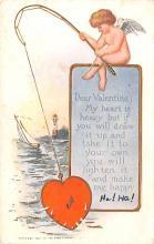 val003143 - Valentines Day Post Card Old Vintage Antique