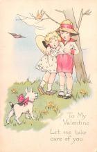 val003147 - Valentines Day Post Card Old Vintage Antique
