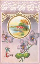 val003149 - Valentines Day Post Card Old Vintage Antique