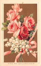 val003151 - Valentines Day Post Card Old Vintage Antique