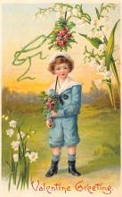 val003155 - Valentines Day Post Card Old Vintage Antique
