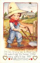 val003157 - Valentines Day Post Card Old Vintage Antique