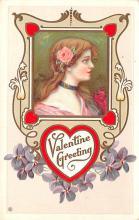 val003159 - Valentines Day Post Card Old Vintage Antique
