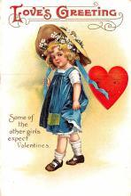 val003163 - Valentines Day Post Card Old Vintage Antique
