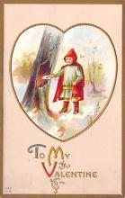 val003165 - Valentines Day Post Card Old Vintage Antique