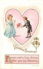val003173 - Valentines Day Post Card Old Vintage Antique