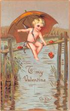 val003175 - Valentines Day Post Card Old Vintage Antique