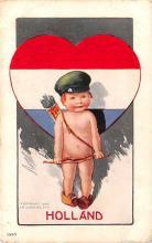 val003177 - Valentines Day Post Card Old Vintage Antique