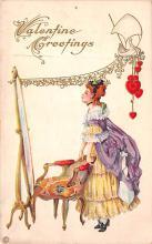val003179 - Valentines Day Post Card Old Vintage Antique