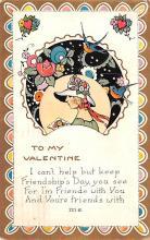 val003187 - Valentines Day Post Card Old Vintage Antique