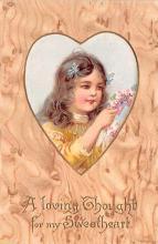 val003193 - Valentines Day Post Card Old Vintage Antique