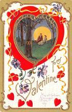 val003199 - Valentines Day Post Card Old Vintage Antique