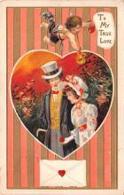 val003203 - Valentines Day Post Card Old Vintage Antique