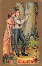 val003205 - Valentines Day Post Card Old Vintage Antique