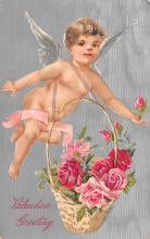 val003207 - Valentines Day Post Card Old Vintage Antique