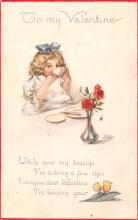 val003215 - Valentines Day Post Card Old Vintage Antique