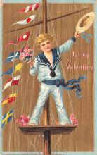 val003217 - Valentines Day Post Card Old Vintage Antique