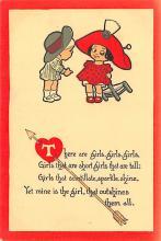 val003223 - Valentines Day Post Card Old Vintage Antique