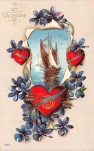 val003231 - Valentines Day Post Card Old Vintage Antique