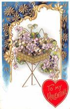 val003233 - Valentines Day Post Card Old Vintage Antique