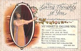 val003239 - Valentines Day Post Card Old Vintage Antique