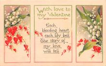 val003321 - Valentines Day Post Card Old Vintage Antique