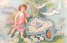 val003331 - Valentines Day Post Card Old Vintage Antique