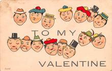 val003333 - Valentines Day Post Card Old Vintage Antique