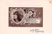 val003335 - Valentines Day Post Card Old Vintage Antique