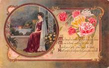 val003337 - Valentines Day Post Card Old Vintage Antique