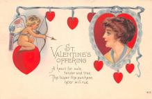 val003343 - Valentines Day Post Card Old Vintage Antique