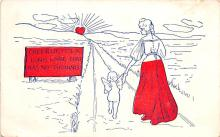 val003353 - Valentines Day Post Card Old Vintage Antique