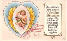 val003355 - Valentines Day Post Card Old Vintage Antique