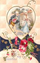 val003363 - Valentines Day Post Card Old Vintage Antique