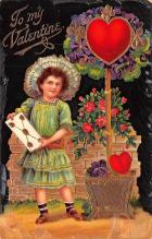 val003371 - Valentines Day Post Card Old Vintage Antique