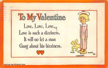val003381 - Valentines Day Post Card Old Vintage Antique